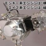 モンキー(Monkey),エイプ(APE)のエンジン、腰上と腰下