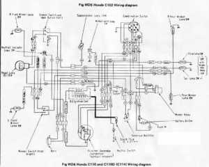 Honda C110D Wiring Schematic  4Stroke  All the data for your Honda Motorcycle or Moped