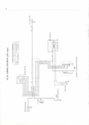 Honda PC50 UK (1968) Wiring Schematic  4Stroke  All