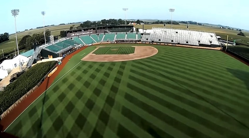 5G-enabled drone captures elaborate footage from the MLB's 'Field of Dreams' game