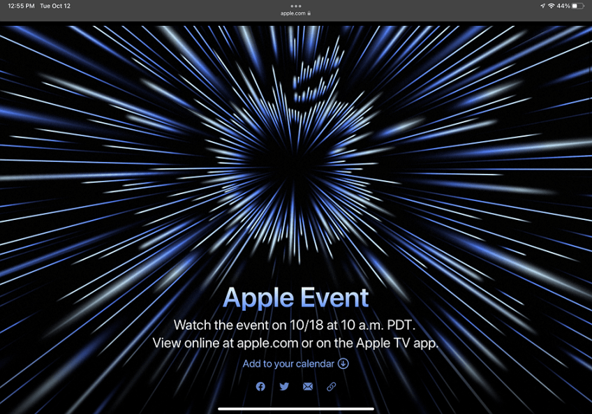 Apple confirms 'Unleashed' special event for October 18