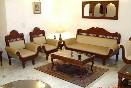 5 Seater Carved Wooden Sofa Set Manufacturer