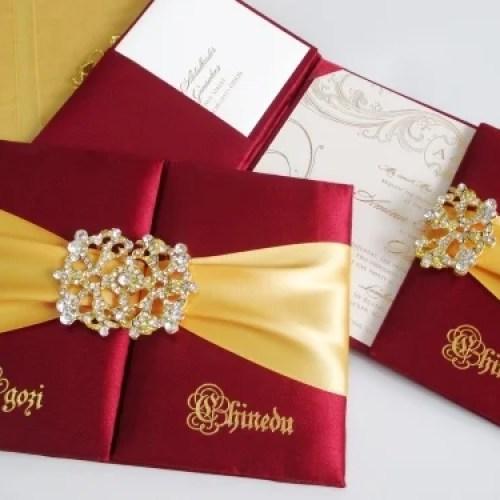 Red Silk Invitation