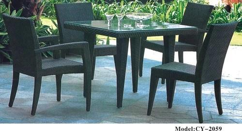 black antique patio furniture size