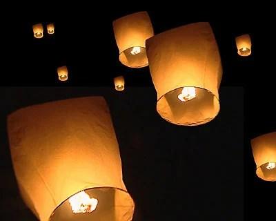 Diwali Flying Lantern Searching Eye Group