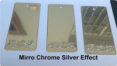 Bonded Chrome Finish Powder Coated Sample Metallic