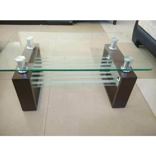 wooden glass top center table