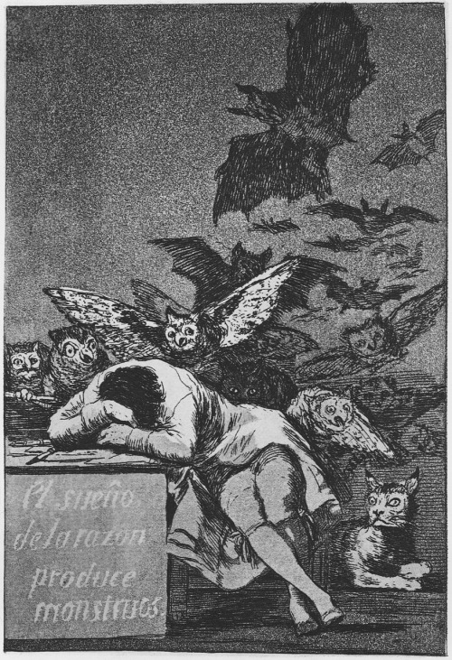 The Sleep of Reason Creates Monsters by Francisco Goya