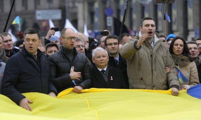 Znalezione obrazy dla zapytania kaczyński na majdanie