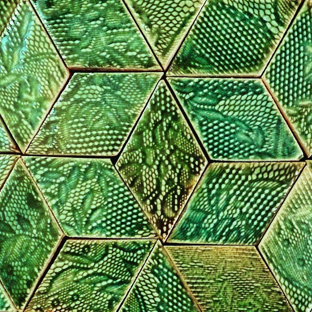 #stunning #aquamarine #diamond shaped #handmade #tiles available from the #etsy #shop (link at the top of my profile) #turquoise #green #design #luxury #artisan #original #guymitchelldesign #walltiles #wallcoverings #interior #interiors #interiordesign #architecture #design #decor #décor #luxe #pattern #texture #geometric