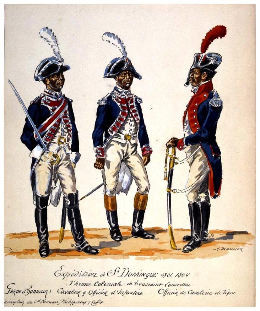 Haitian Army c.1800  Illustration by Henri Boisselier