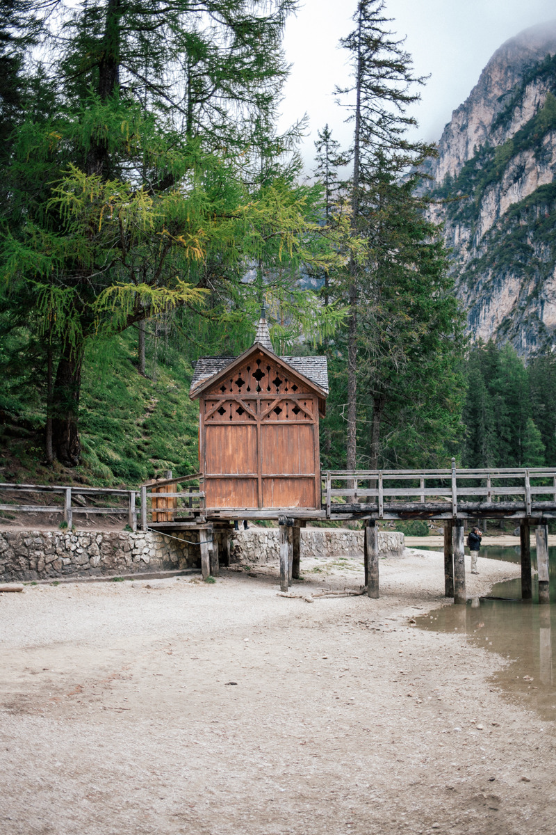 Definitely the highlight of our road trip: the breathtaking Lago di Braies in south tyrol italy.