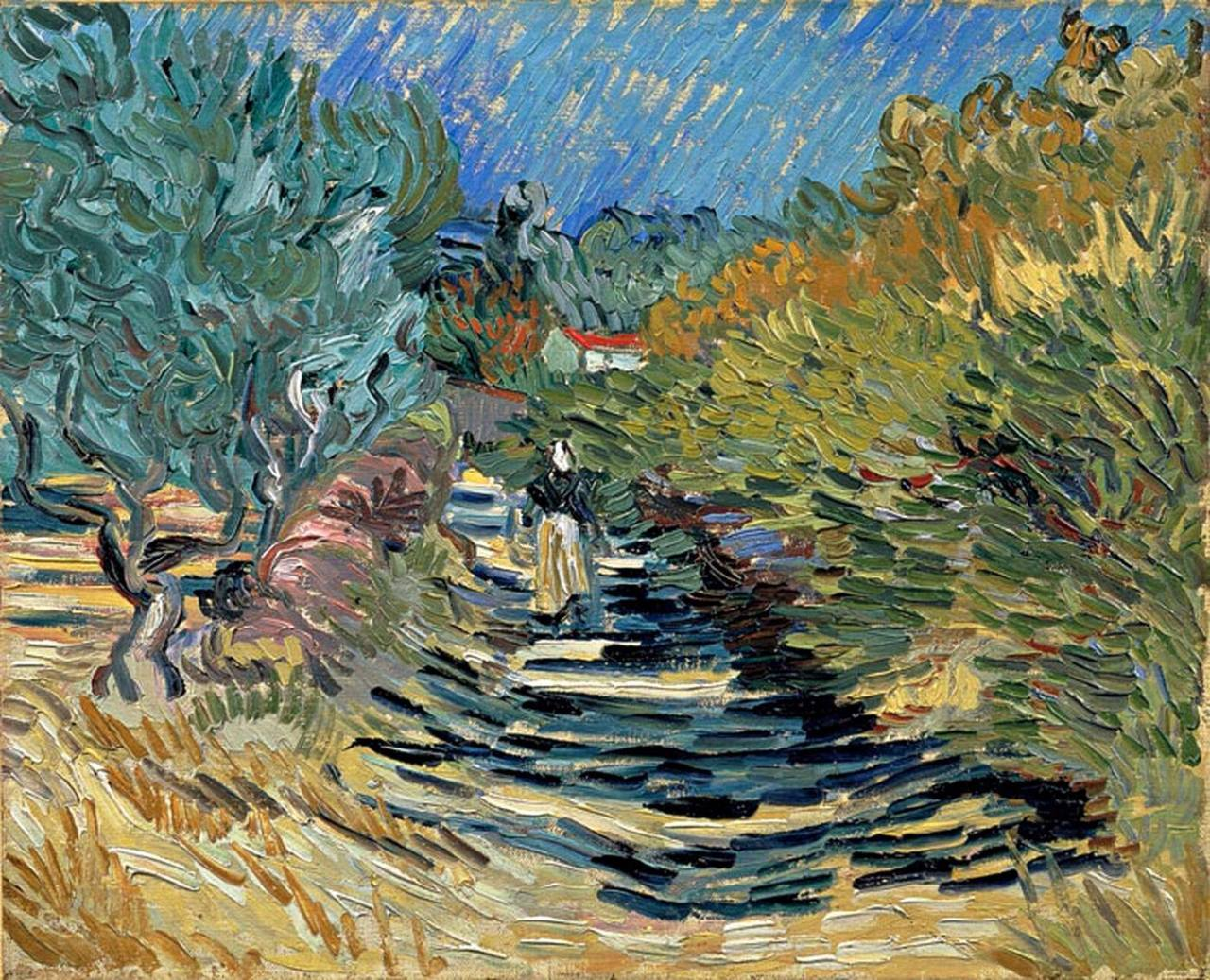 Van Gogh, Path at Saint-Remy, December 1889. Oil on canvas, 32.2 x 40.5 cm. Kasama Nichido Museum of Art, Japan.