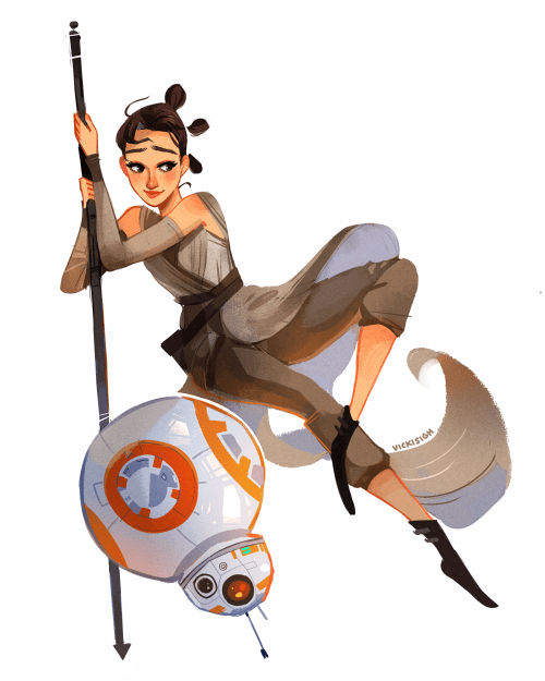 vickisigh: I loved the new Star Wars! Rey and BB8 are so cute! ^O^