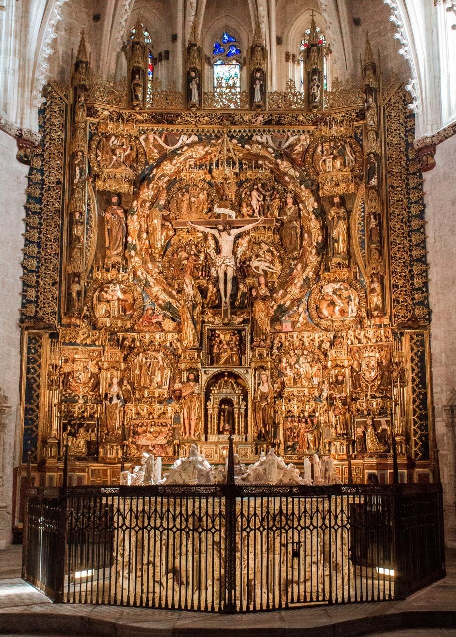 Sanctuary of the Cartuja de Miraflores, Burgos, Spain.