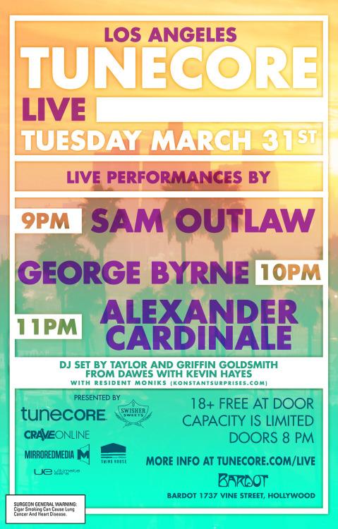 tunecore live 3/31