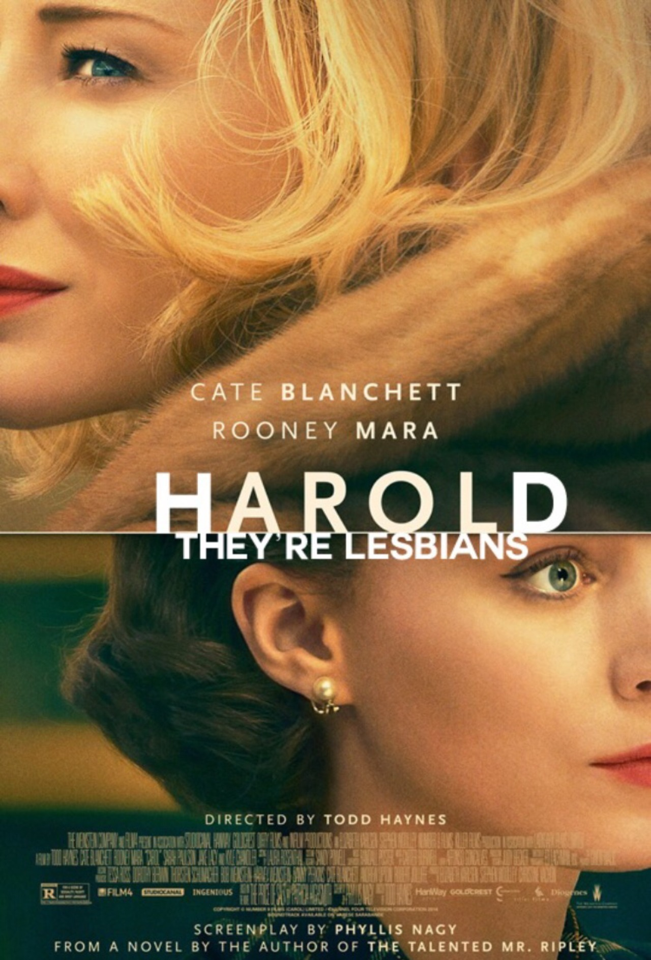 Image result for harold they're lesbians meme