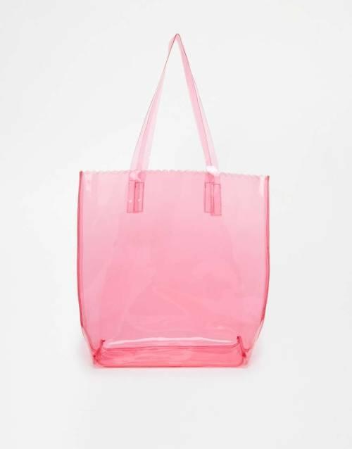 ASOS PU Scallop Edge Shopper Bag