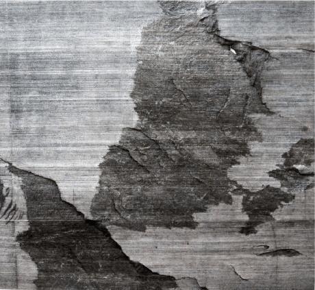 Massimiliano Turco, Rizoma, 2014, inchiostro su marmo