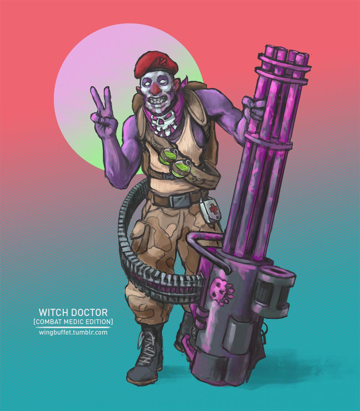 Military Dota Combat Medic Witch Doctor Dota2