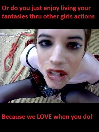 sissy fag cum swallow caption