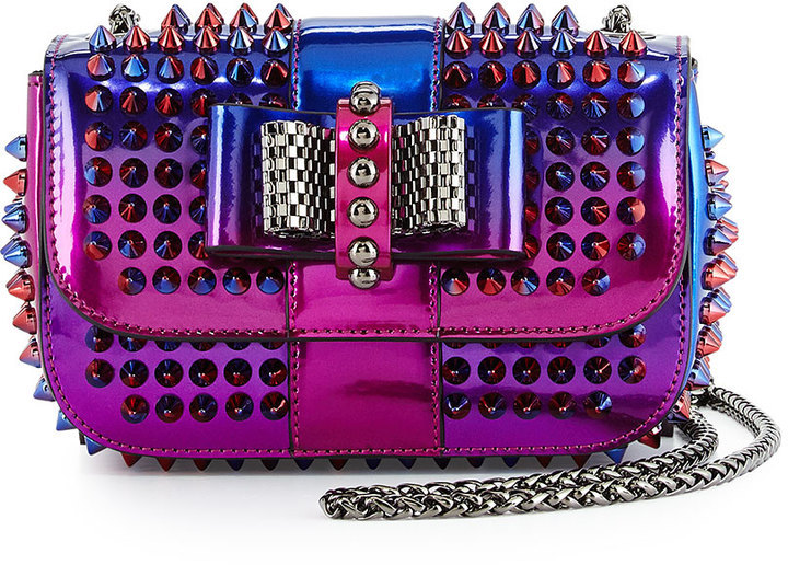 Christian Louboutin Sweet Charity Scarabe Spike Mini Bag, Rose/Red by Christian Louboutin