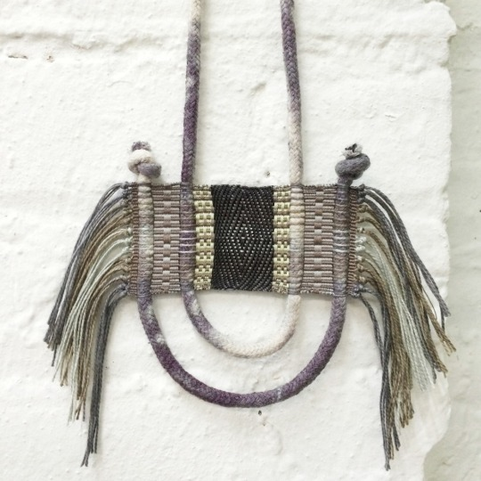 Handwoven Fibre Jewellery by Lesh