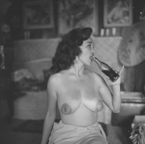girliemagazine:Bonnie Logan  She got more nipple than I got breast!