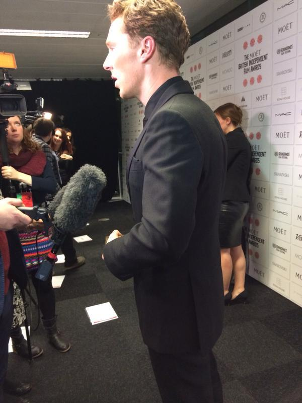 Natalie Jamieson    Benedict Cumberbatch spat out his chewing gum into my notepad before I spoke to him earlier… He kept it though.