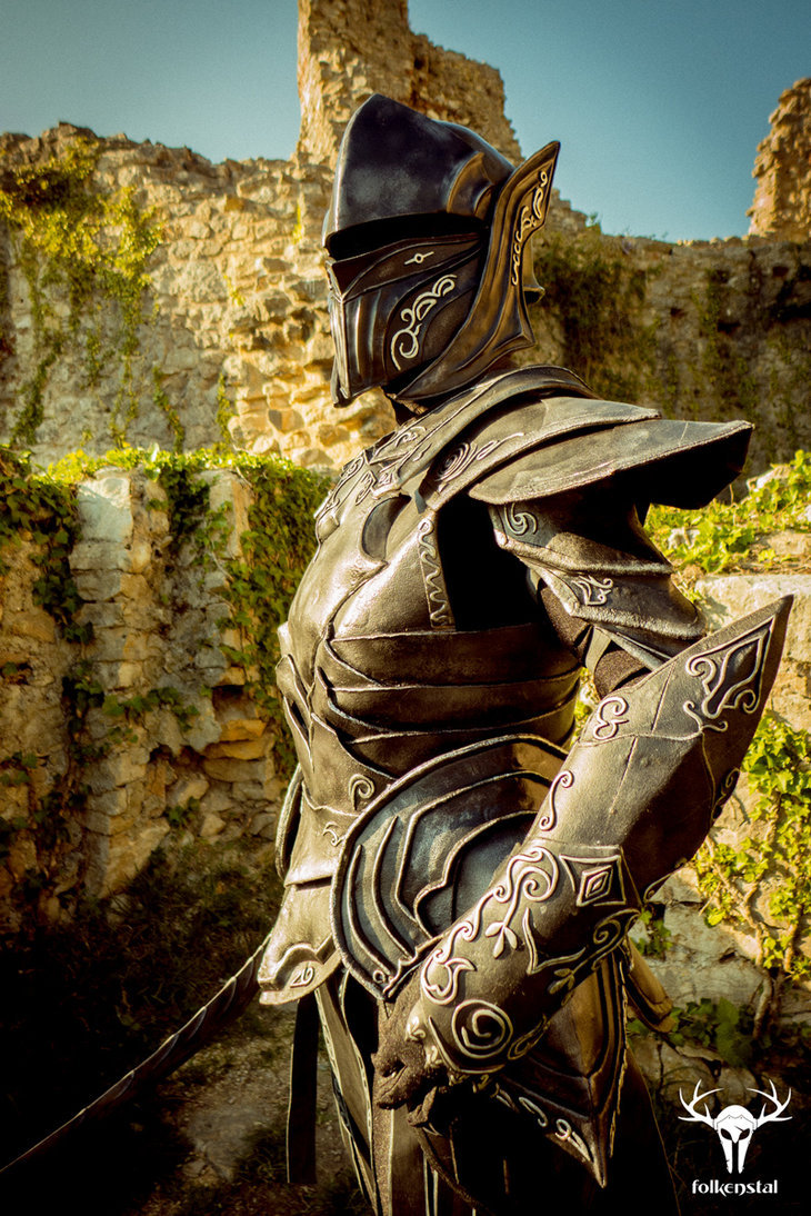 Skyrim Ebony Armor Created By Folkenstal On Top