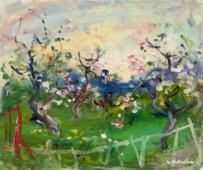 amare-habeo:  Vasyl Khmeluk (Ukrainian, 1903-1986)Trees in blossom, 1971