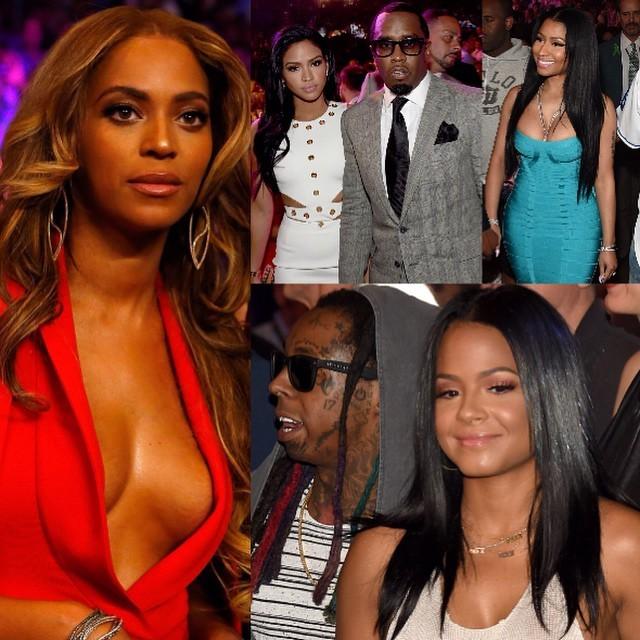 Foto Beyonce Pamer Payudara Seksi Saat Nonton Mayweather VS Pacquiao
