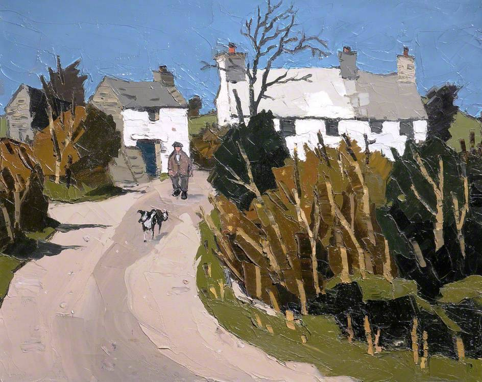 lawrenceleemagnuson:  Kyffin Williams (UK, Wales 1918-2006) Farm, Llanddona (c.1958) oil on canvas 51.8 x 62 cm