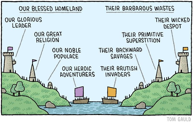 Comic by Tom Gauld.