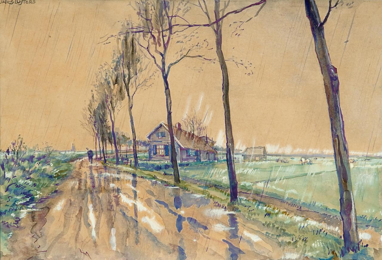 amare-habeo:  Jan Sluijters (Dutch, 1881–1957)  Country road (Landweg), N/D watercolor,18.8 x 27.8 cm