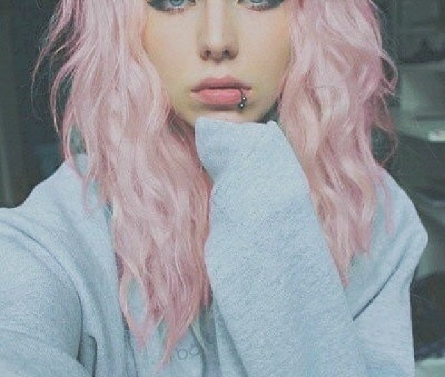 Piercing Teen Blue Eyes Pastel Hair Pink Hair Dyed Hair Alternative Girl Pastel Colours Pale Pastel Goth Scene Hair Pastel Pink Pastel Pink Hair Alternative
