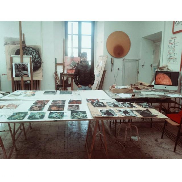 22.05.2015 Giuseppe Renda nel suo studio