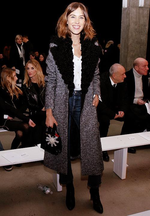 alexachung:Alexa Chung attends the Edun show during Mercedes-Benz Fashion Week on February 15, 2015 in New York City.