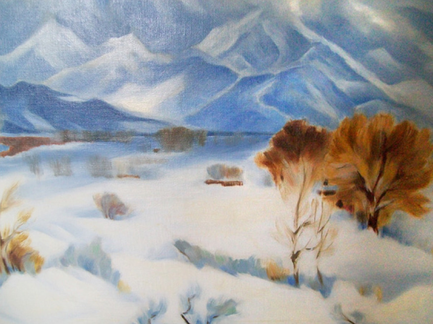 """Gene Kloss (1903-1996) End of the Snowstorm Oil, 24"""" x 30"""""""