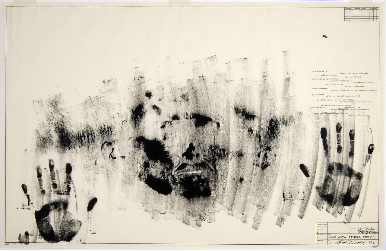 Skin with [Frank] O'Hara Poem, Jasper Johns, 1963
