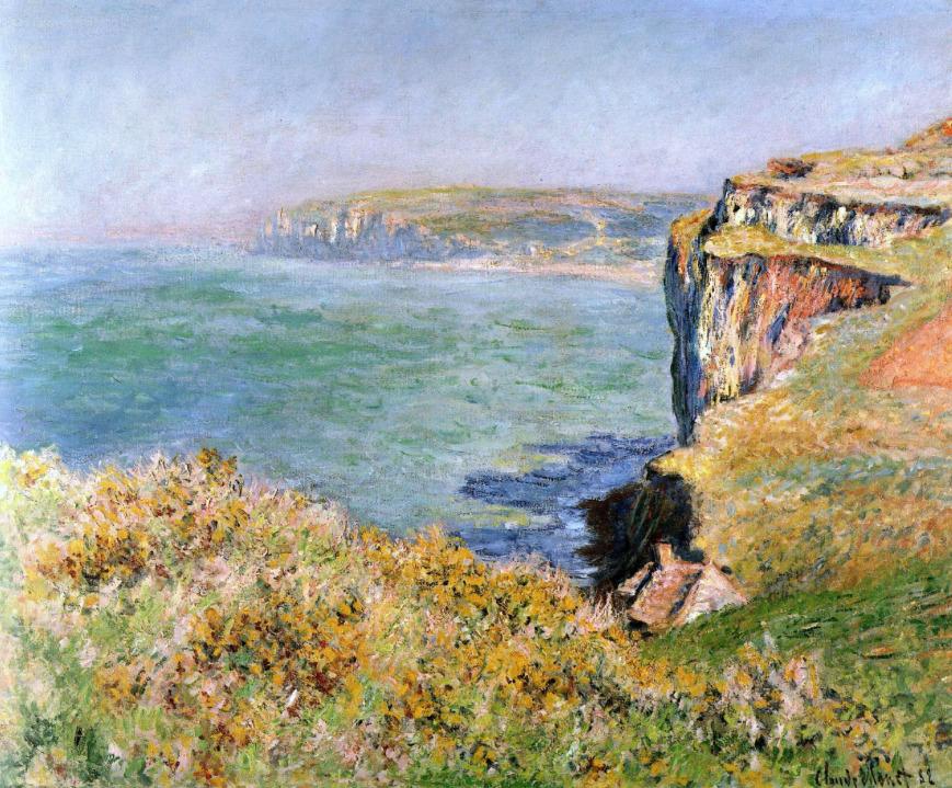 bofransson:  Monet, Claude Cliffs at Varengeville