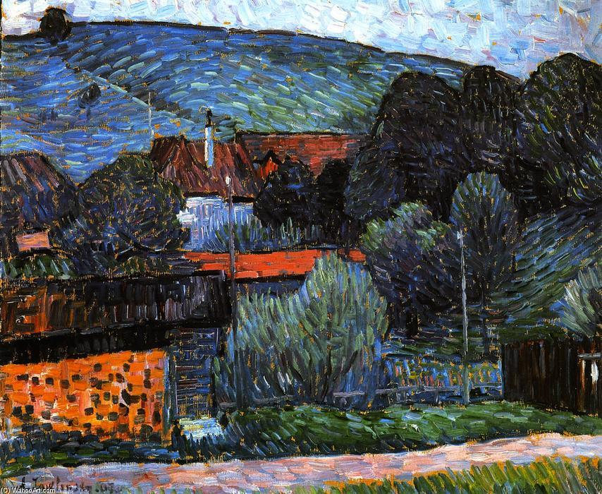 huariqueje:  Melancholy in the Evening Wasserburg on the Inn  -    Alexei Jawlensky  1907 Russian 1864-1941