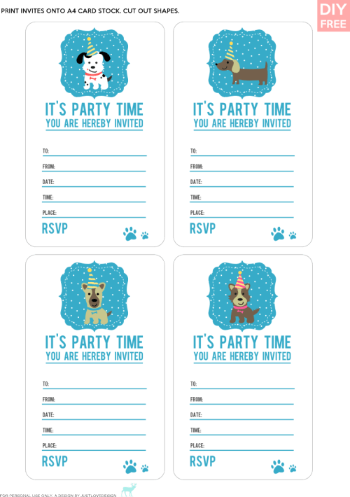 Simple Birthday Invitations Printable