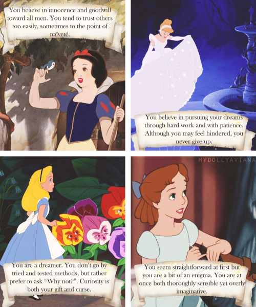 Female Disney Character Personalities