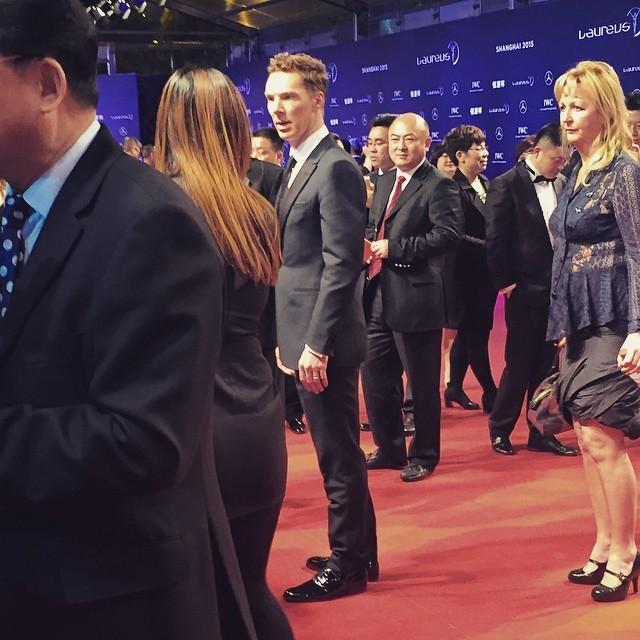 kahinasekkai #BenedictCumberbatch aux #LWSA15 #Shanghai #SherlockHolmes