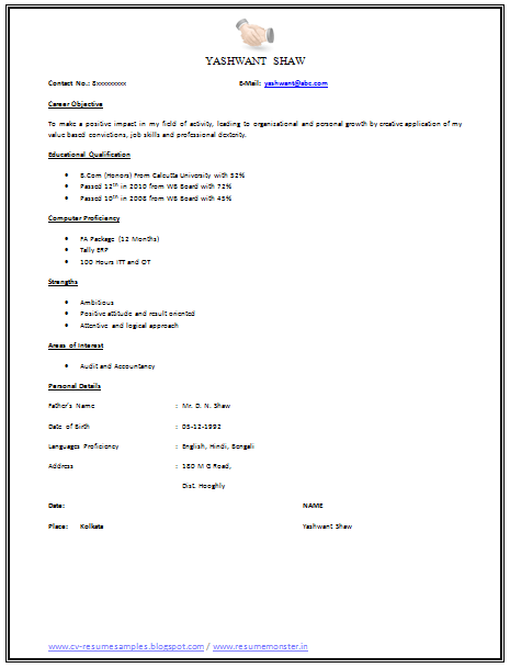 Good Resume Example Pdf. Good Resume Objectives Examples Best
