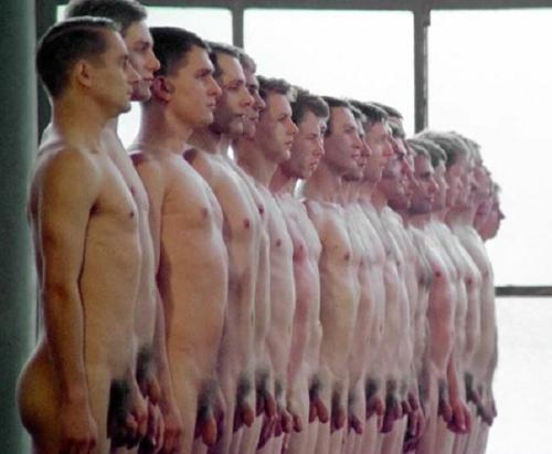 Naked Men Lined Up For Inspection gallery-9306 | My Hotz Pic