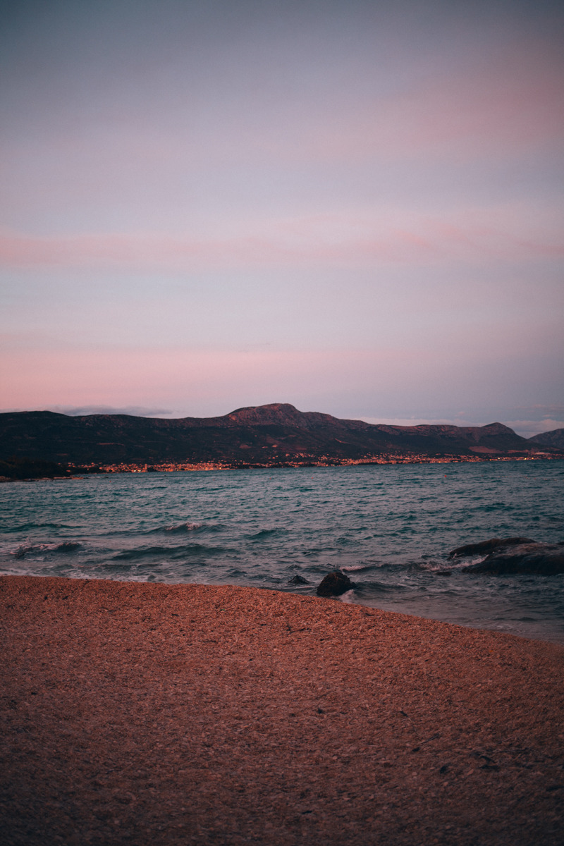 Sunset driving in Croatia