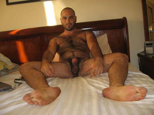 hung naked men bent over