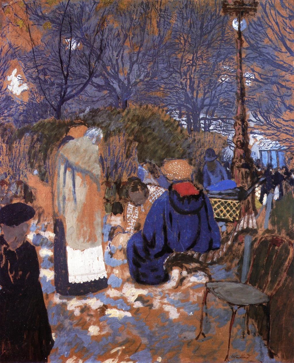 wonderingaboutitall: Park Scene - Edouard Vuillard